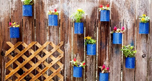 Tin Can Fence Garden