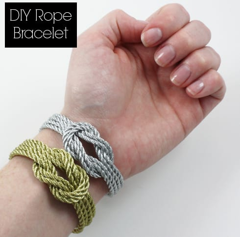 Made By Girl DIY: Rope Bracelet