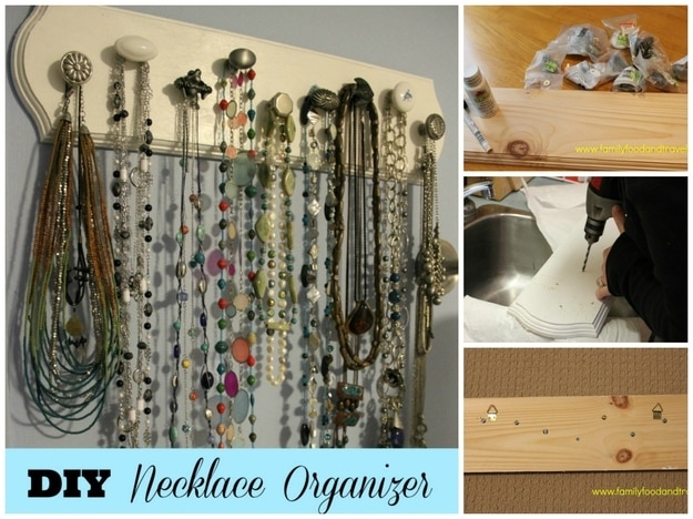 Knob Necklace Organizer