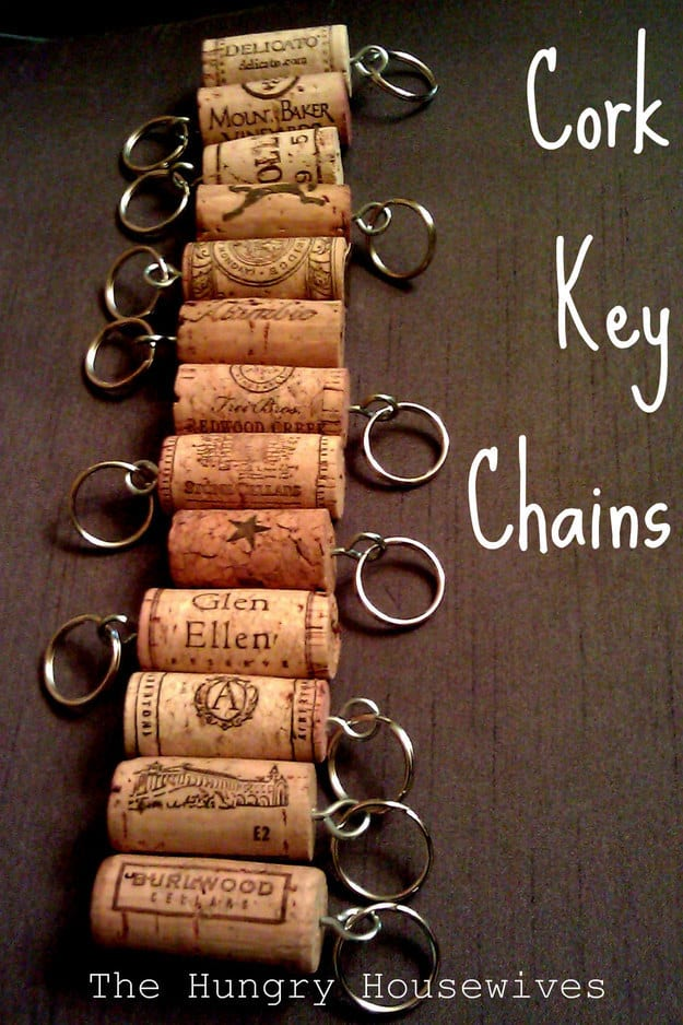 Cork Key Chains
