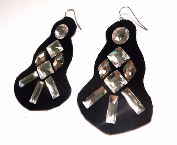 Glitter 'N Glue: Crystal Statement Earrings