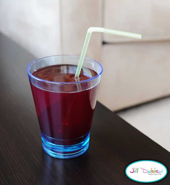 Serve up a glass of juice that is really Jell-O.