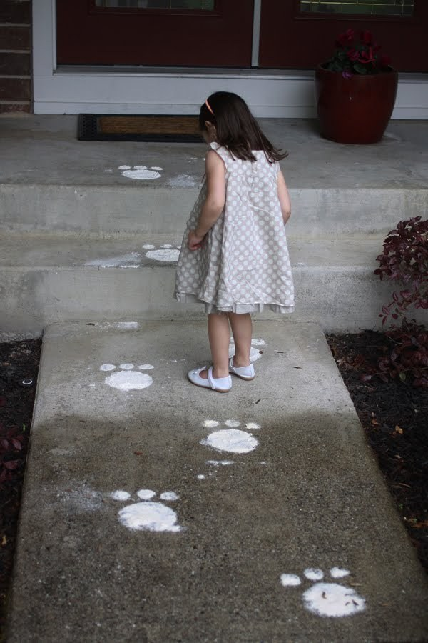 Leave easter bunny tracks for them to find.