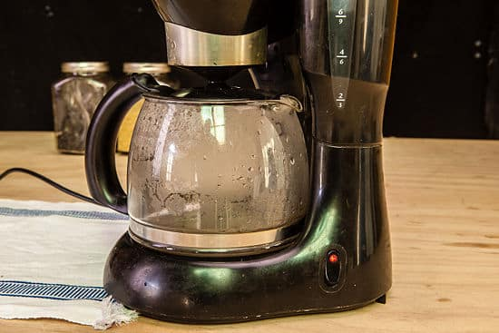 19. Run vinegar and water through your coffee maker.