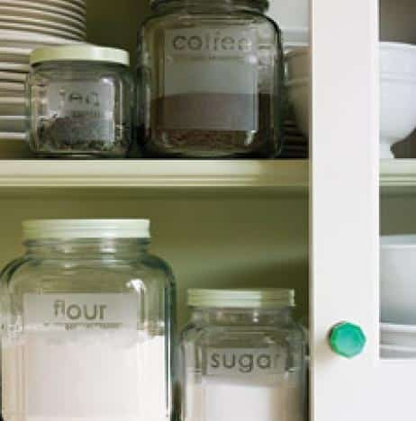 Etched Glass Kitchen Containers