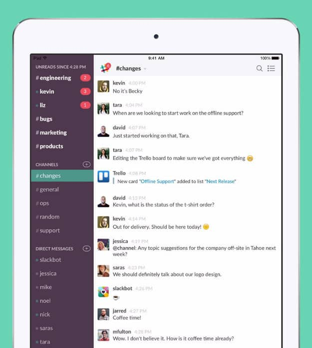 Slack (Free, iOS and Android)