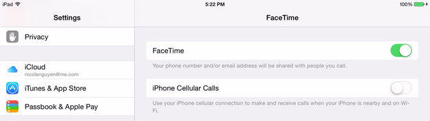 """If you're annoyed that your iPad keeps ringing when you get a call on your iPhone, go to Settings > FaceTime > turn """"iPhone Cellular Calls"""" to off."""