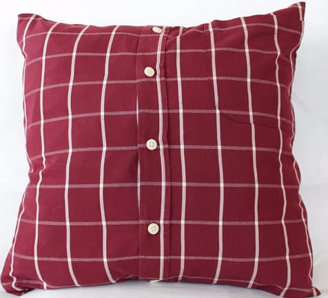 Pillow Case Made from Men's Shirt