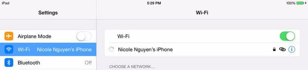Stay online by using your iPhone as a hotspot. On your iPhone, go to Settings > Personal Hotspot to enable it. Then on your iPad, go to Settings > WiFi and select your iPhone.