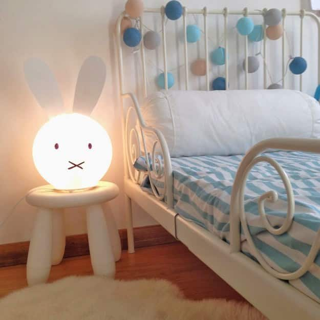 Add some ears to a Fado lamp to make a bunny nightlight.