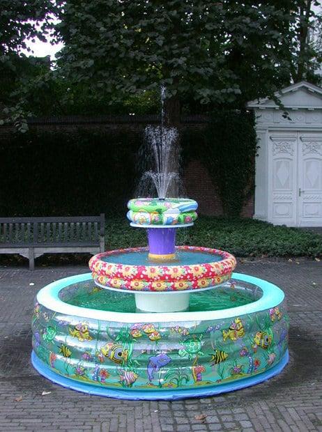 Make an inflatable pool fountain.