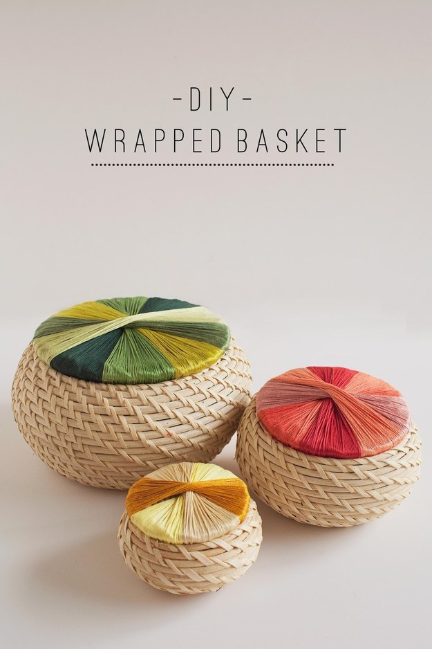 Wrap embroidery thread around the lids of a few Fryken baskets to spice them up a bit.