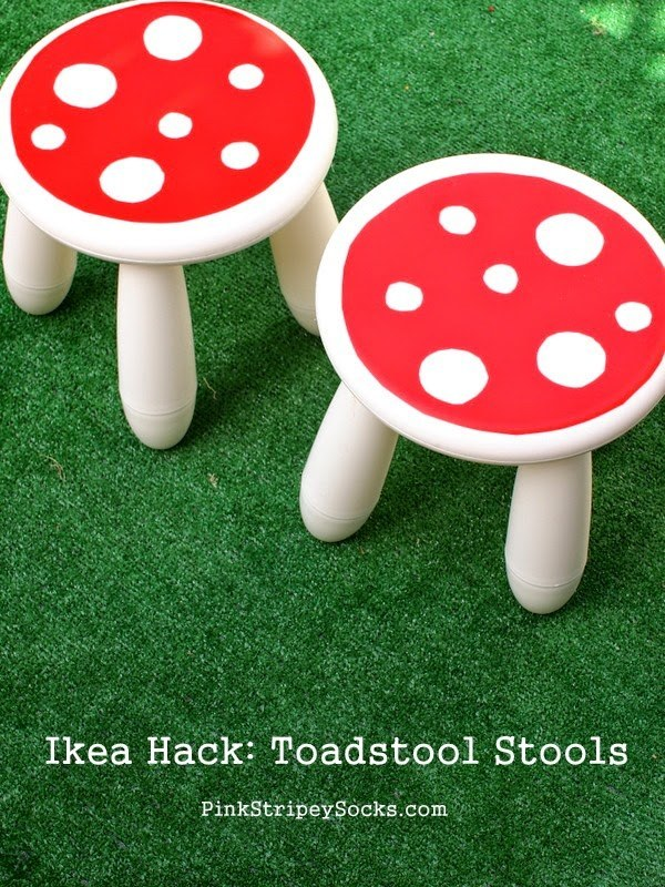 "Transform Mammut stools into toadstools for your little ""elves."""