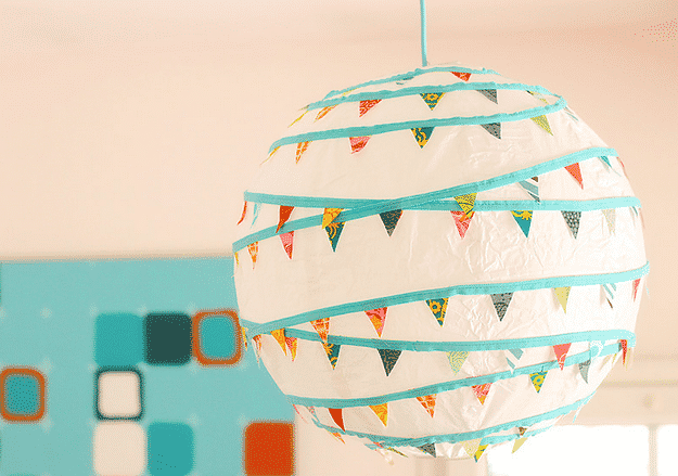 Jazz up a plain Regolit lamp shade with some bunting.