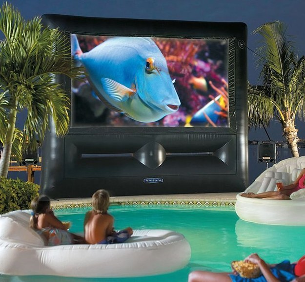 Spring for a giant inflatable movie screen.