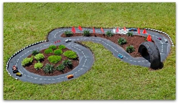 Make a race car track.