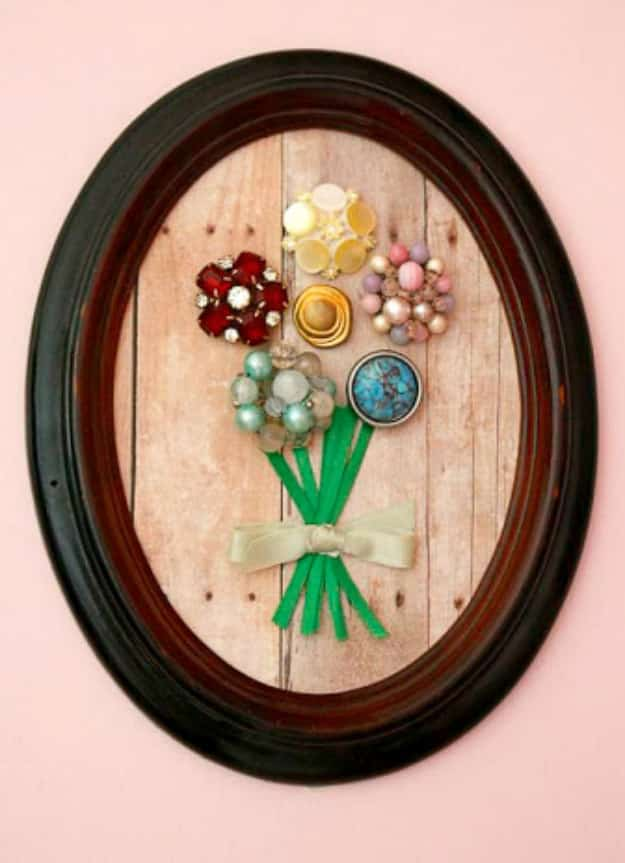 Clip-on Earring Wall Art