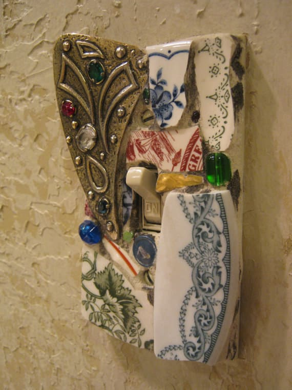 Mosaic Light Switchplate