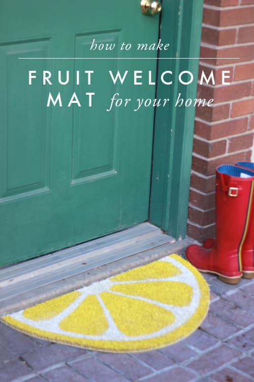 Turn a Trampa mat into a fruity spring accessory for your entryway.