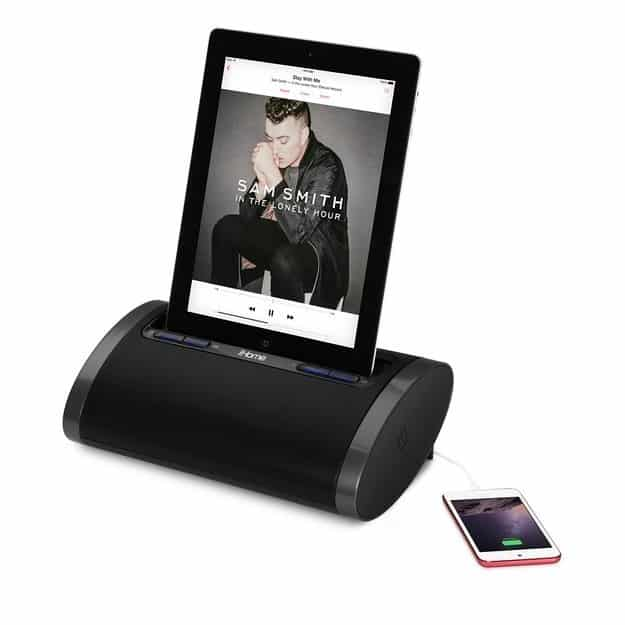 Or set your iPad up on the iHome DL48 ($120) dock, which can charge your phone, too.