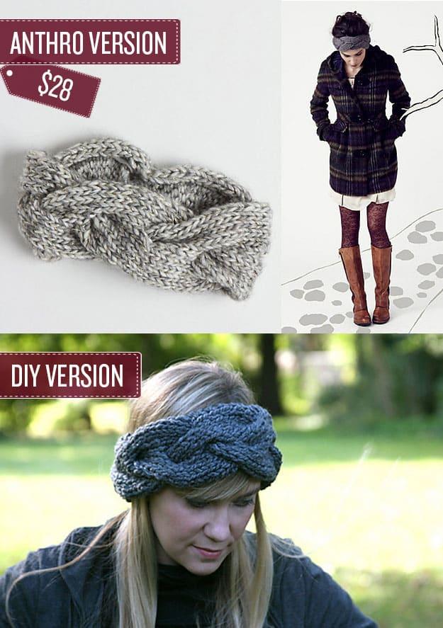 Knit a braided head wrap.