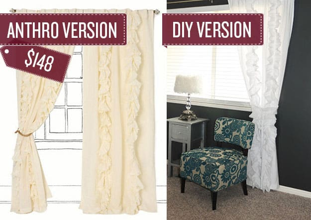 Sew some ruffled curtains.