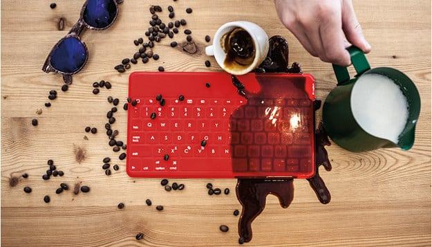 Get a wireless keyboard like the Logitech Keys-to-go ($70).
