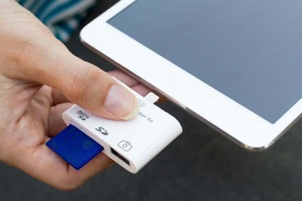 Import DSLR photos directly to the Photos app with this iPad CF card reader ($30).
