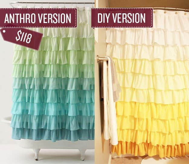 Sew a ruffled shower curtain.