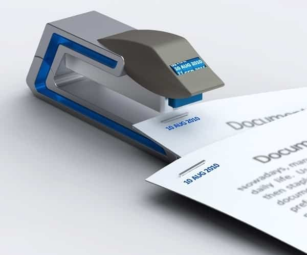 For teachers: a date stapler.