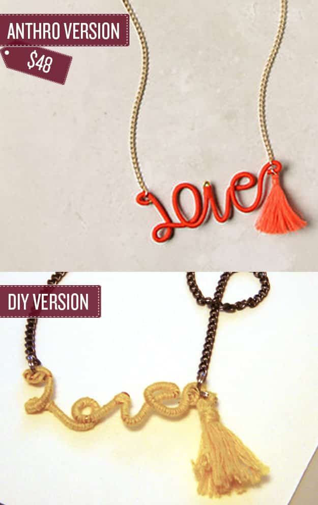 Craft a thread-wrapped word necklace.
