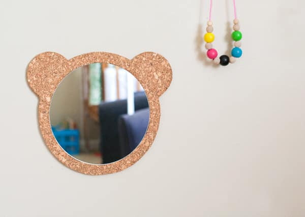 Here's the perfect mirror for cute tiny faces to gaze into.