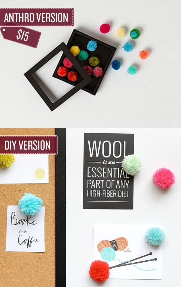 Craft a set of pom-pom thumbtacks.