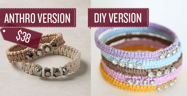 Craft some woven rope bracelets.