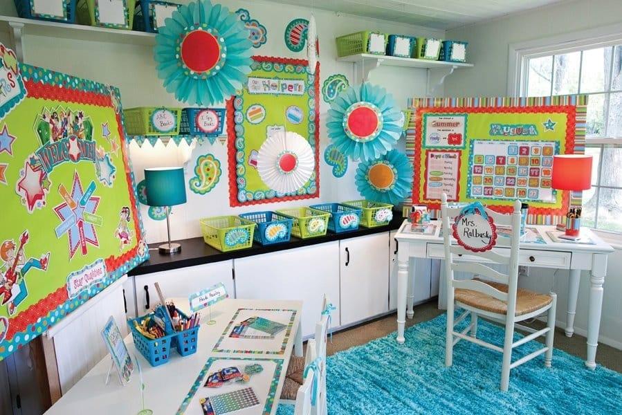 An Animated Springtime Classroom Setup