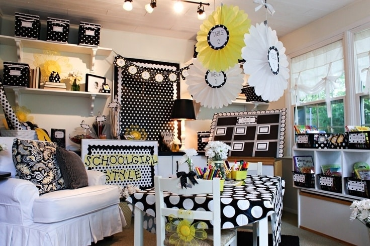A Polka Dot and Daisies Themed Classroom