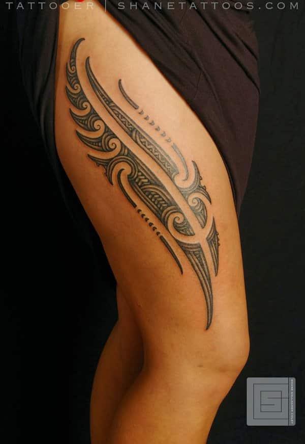 55 Gorgeous Thigh Tattoos -DesignBump