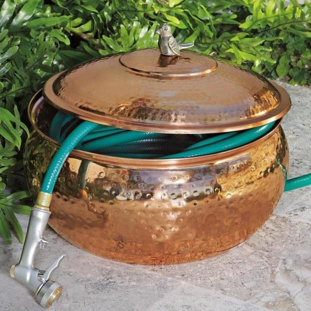 Or, stick it in a cool copper pot.
