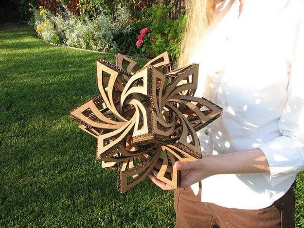 Geometric Cardboard Sculpture