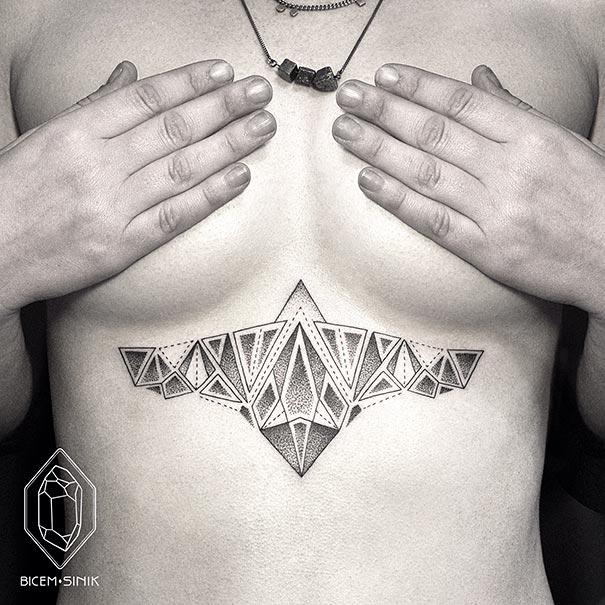 Lines And Dots Tattoo: 30 Stunning Geometric Line And Dot Tattoos -DesignBump
