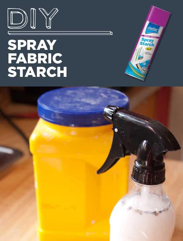 DIY Spray Fabric Starch