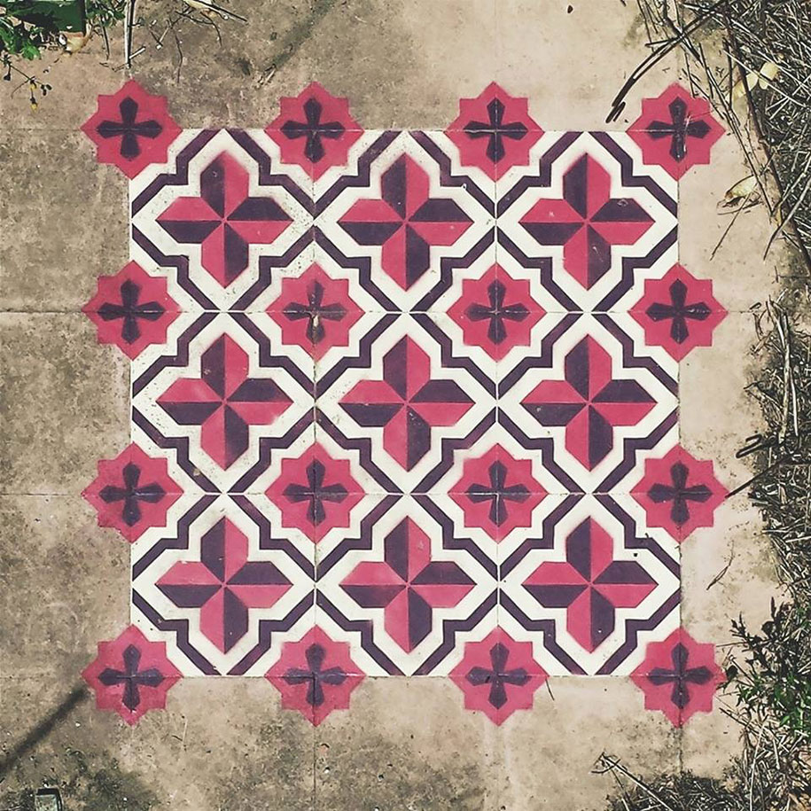 graffiti-spray-paint-tile-pattern-floor-installations-javier-de-riba-13
