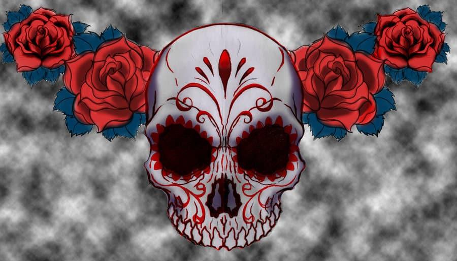 3f832b08231cb 33 Crazily Gorgeous Sugar Skull Tattoos -DesignBump
