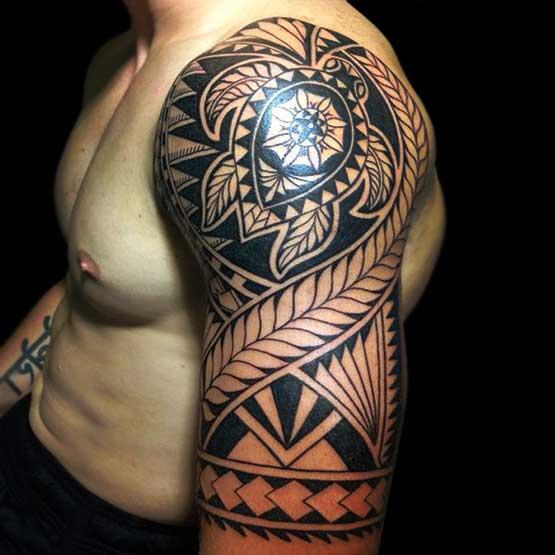 Tribal Santa Tatoo: 28 Insanely Cool Tribal Tattoos For Men -DesignBump
