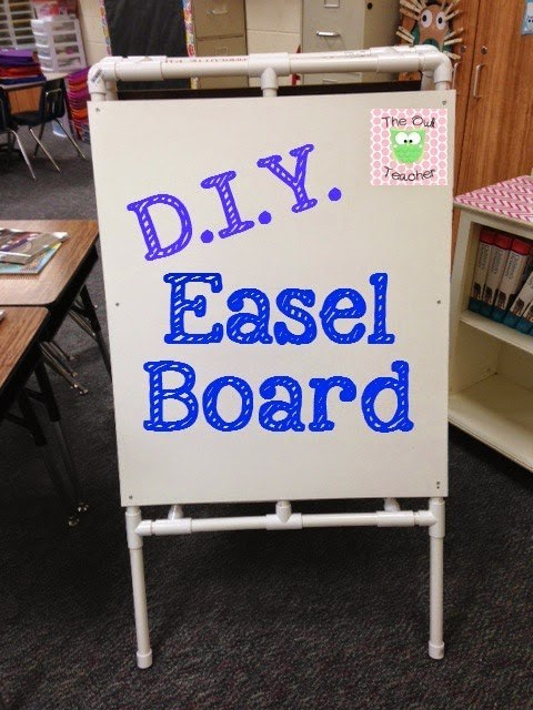 Make your own easel board using PVC piping.