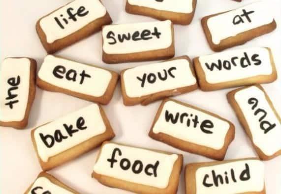 These poetry cookies.