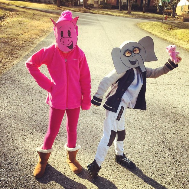 Elephant and Piggie from Mo Willems' Elephant and Piggie series