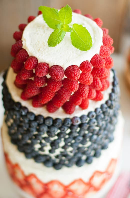 Head to the farmer's market to get the decorating ingredients for this fruity cake.