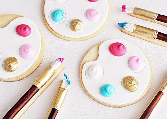 These edible palettes and brushes.