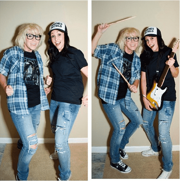 Wayne and Garth from Wayne's World.